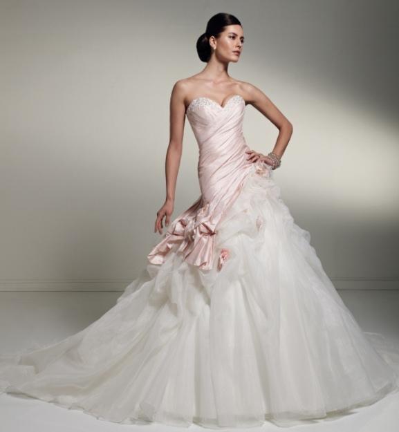 dbc26b9c67e Pink white and silver wedding dresses - Wedding Portal