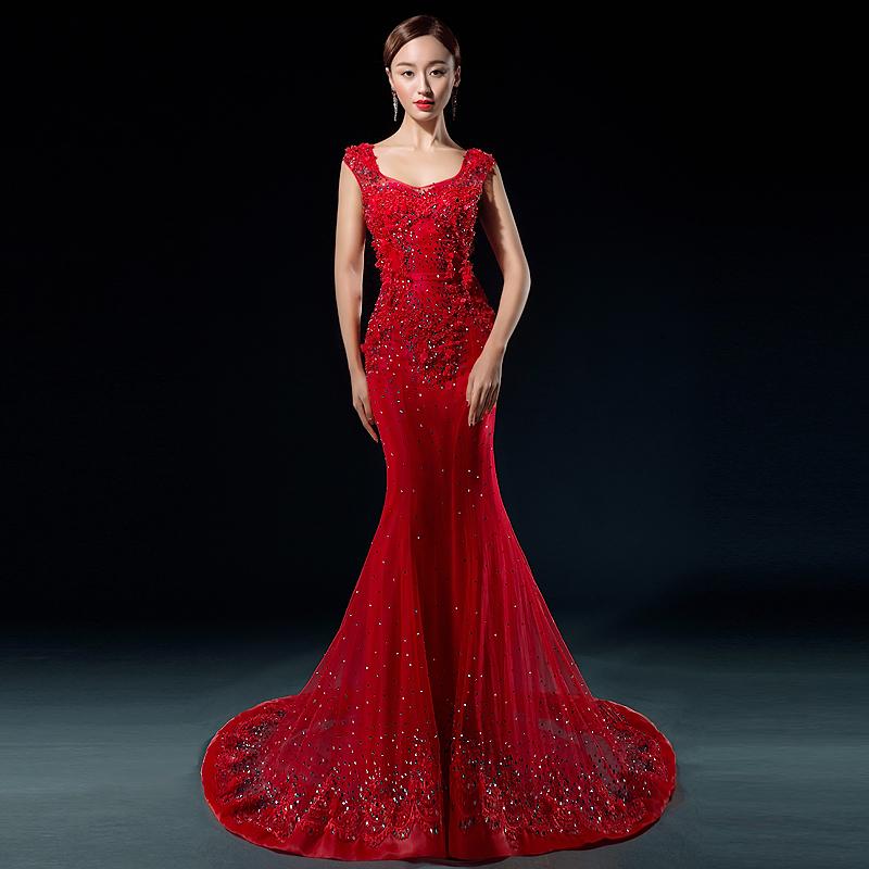 Red Mermaid Lace Wedding Dresses Wedding Portal