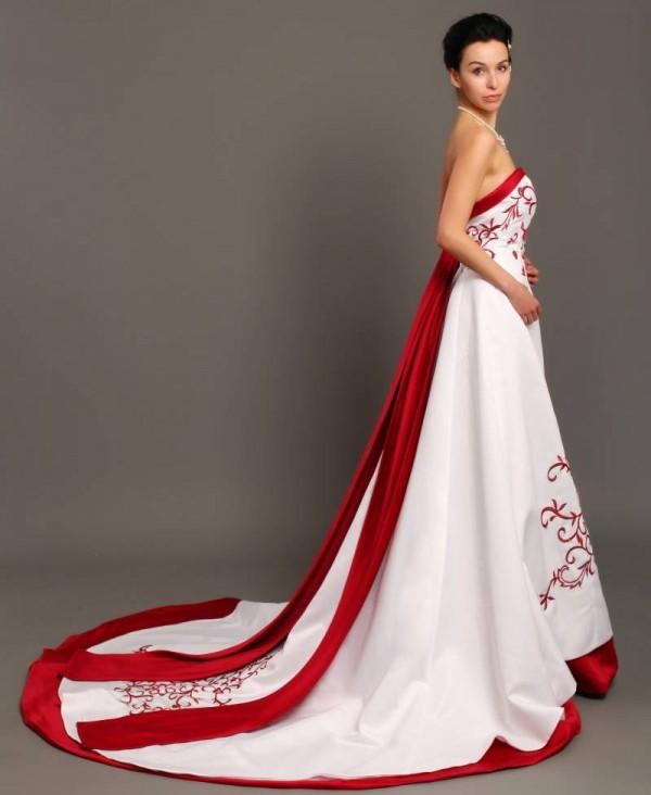 Red N White Wedding Dresses